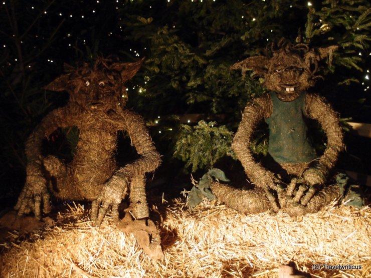 Root children at the Hellbrunner Adventzauber in Salzburg, Austria