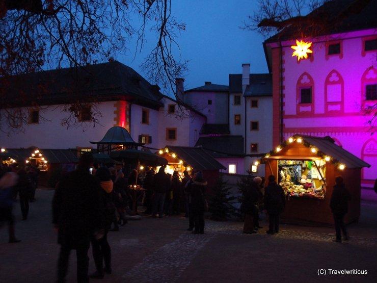 Christmas market at Hohensalzburg Fortress in Salzburg, Austria