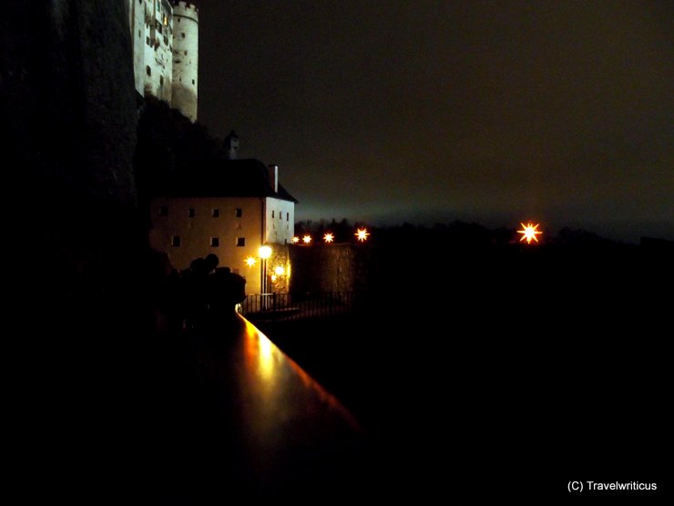 Path of stars at Hohensalzburg Fortress in Salzburg, Austria