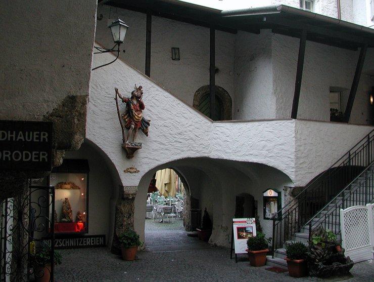 Inner yard in Salzburg, Austria