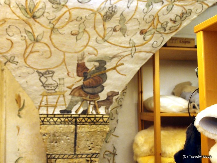 Frescoes at the Lederhaus Schliesselberger in Salzburg, Austria