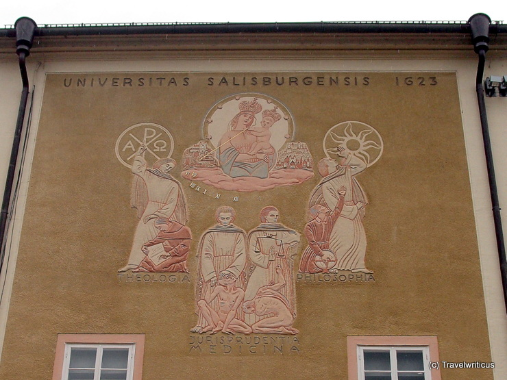 Sundial at the old university of Salzburg