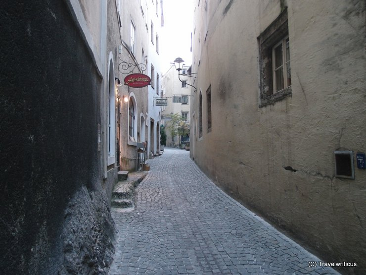 Impression of the Steingasse in Salzburg, Austria