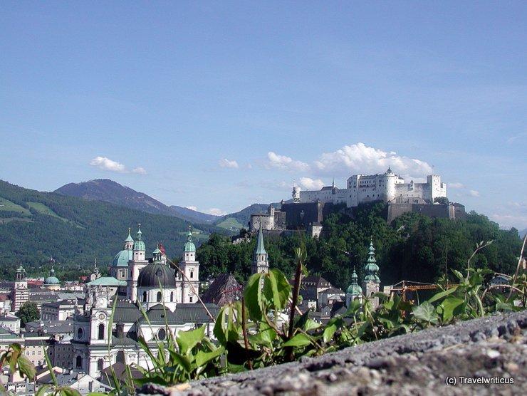 View of Salzburg from Mönchsberg Hill, Austria