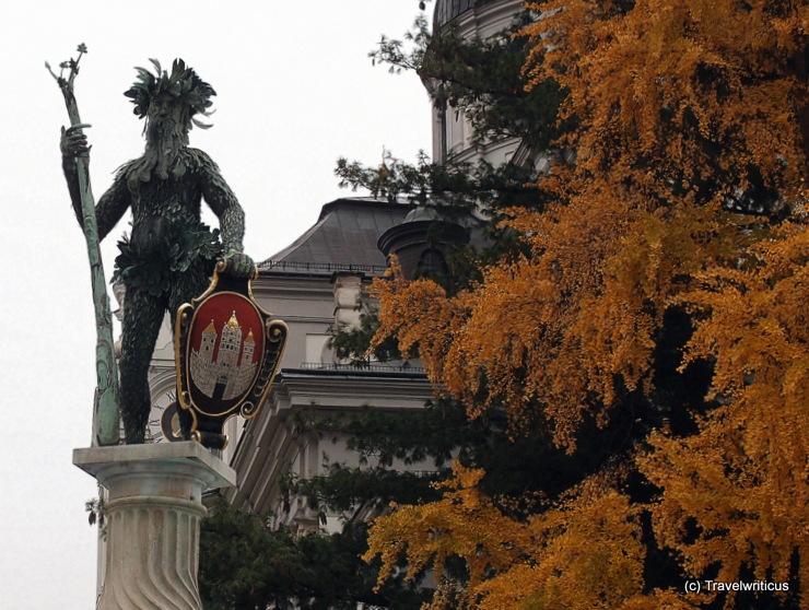 Wild man fountain in Salzburg