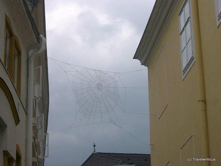 Huge spiderweb (Public art) in St Pölten, Austria