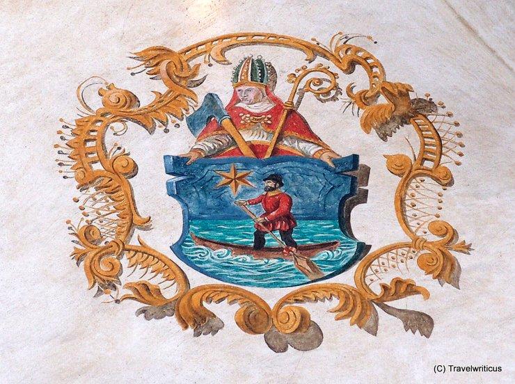 Emblem of Sankt Wolfgang im Salzkammergut, Austria