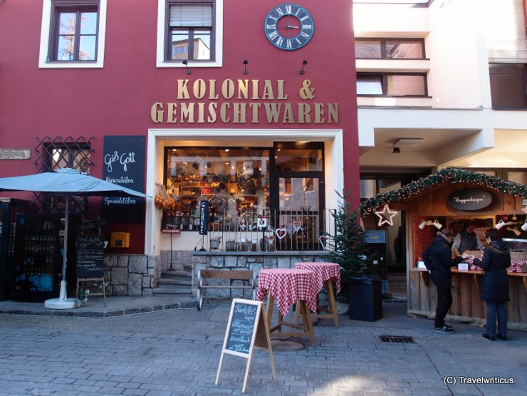 Shop for colonial goods in Sankt Wolfgang, Austria