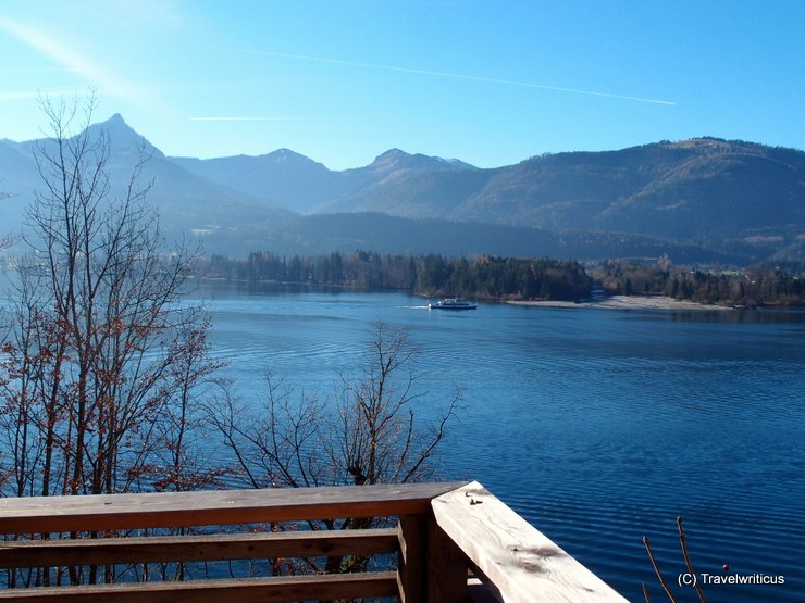 Lake view from a room of the Scalaria in Sankt Wolfgang, Austria