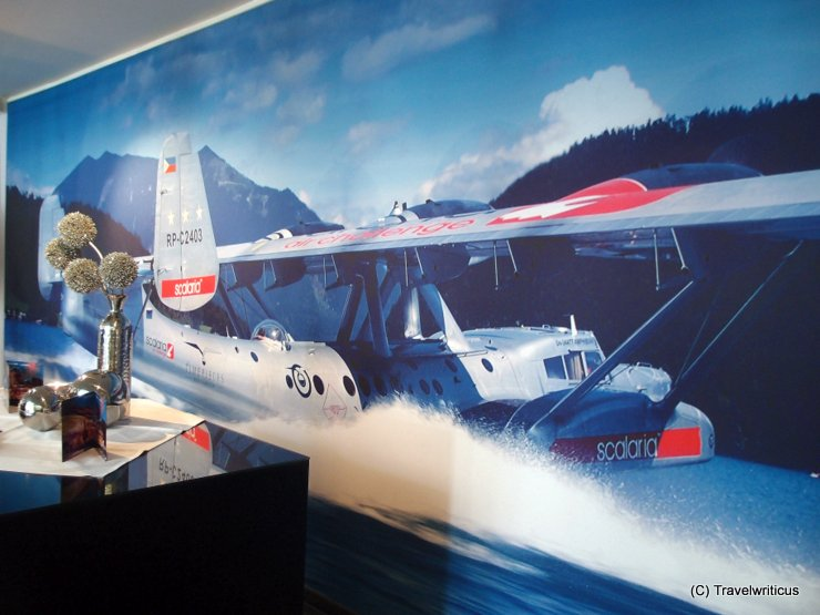 Poster of a waterplane at the Scalaria in Sankt Wolfgang, Austria