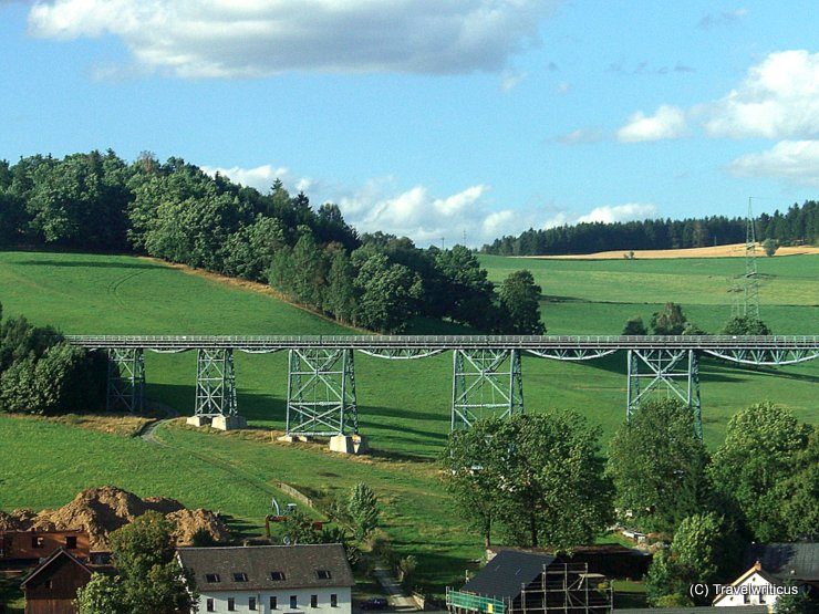 Viaduct of Markersbach in Saxony, Germany