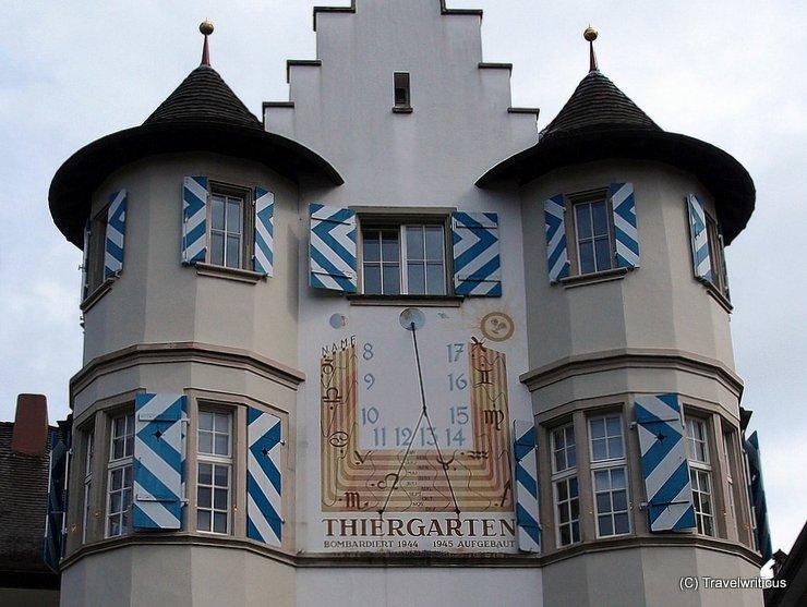 Sundial at the Thiergarten in Schaffhausen, Switzerland