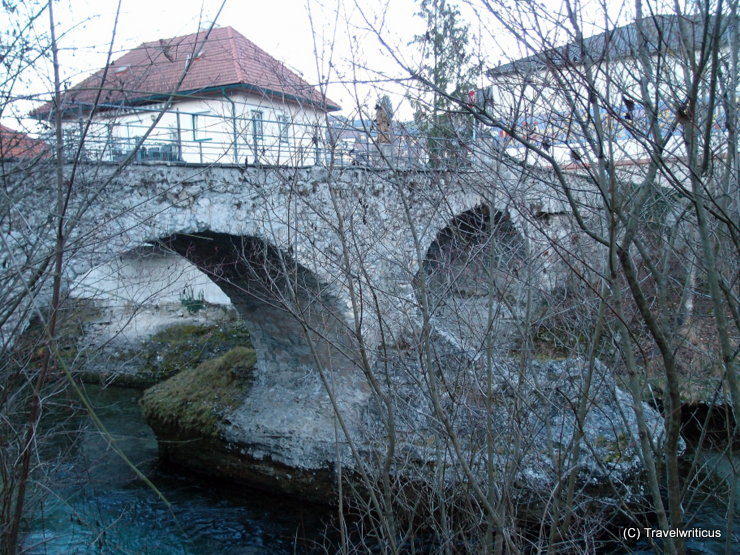 16th century stone bridge in Scheibbs, Austria