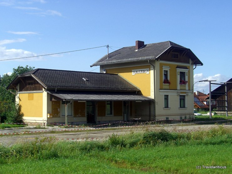The abandoned railway station of Schlierbach, Austria