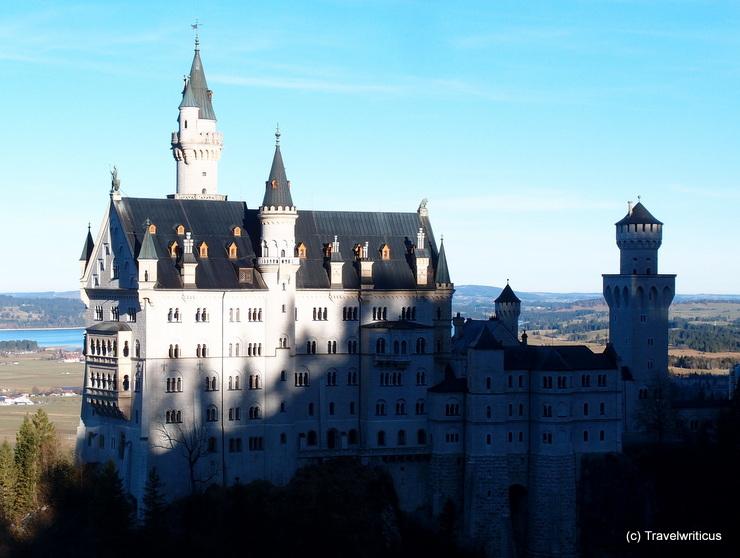 View of Neuschwanstein Castle, taken from the Marienbrücke