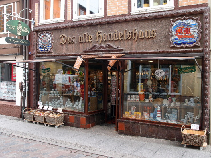 Traditional shop 'Das alte Handelshaus' in Schwerin, Germany