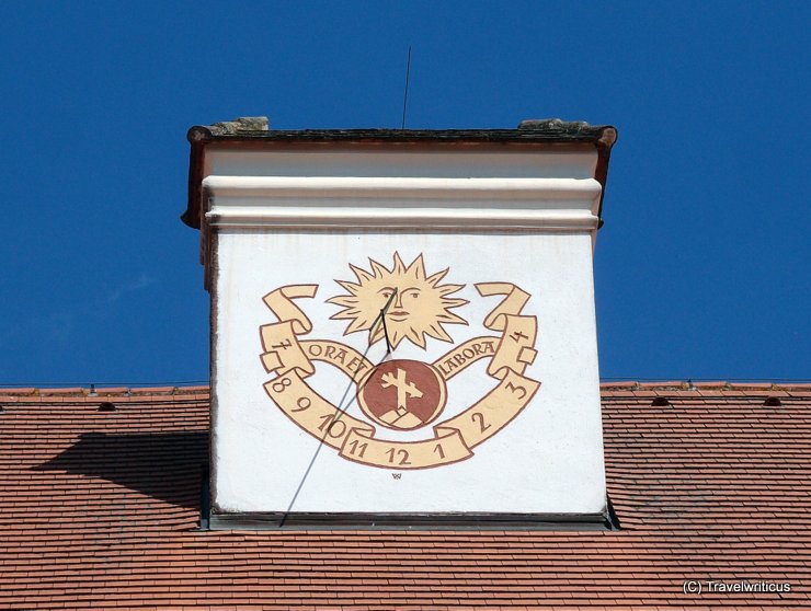 Sundial at a chimney of Seitenstetten Abbey