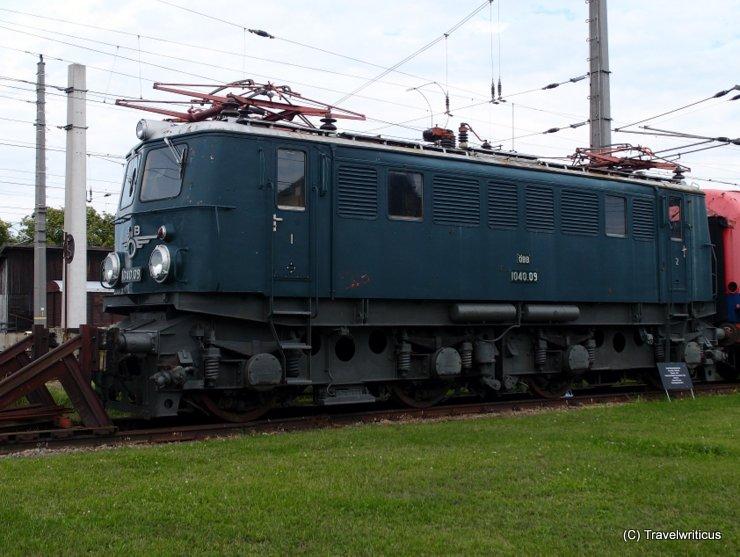 Electric locomotive ÖBB 1040.09 in Sigmundsherberg, Austria