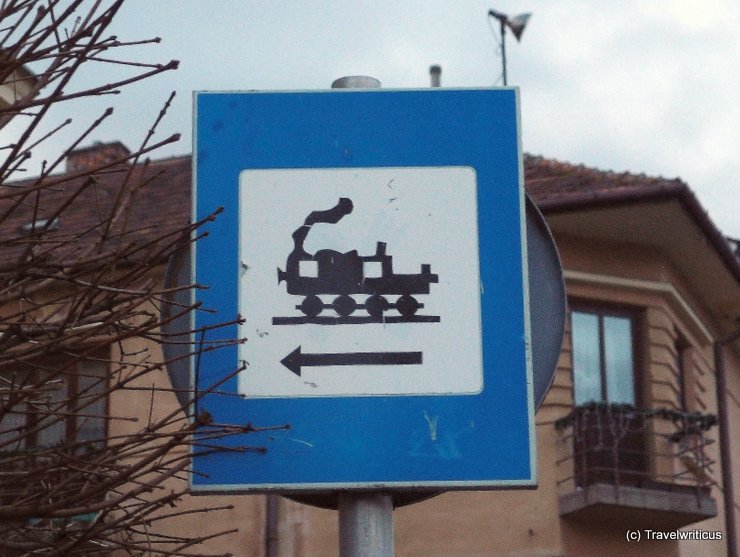 Fun traffic sign in Sopron, Hungary