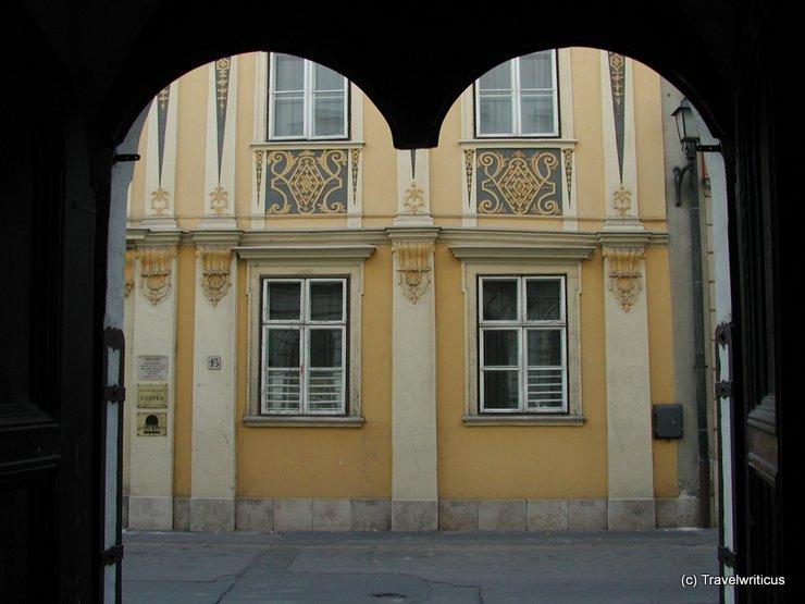 Yellow house in Sopron, Hungary