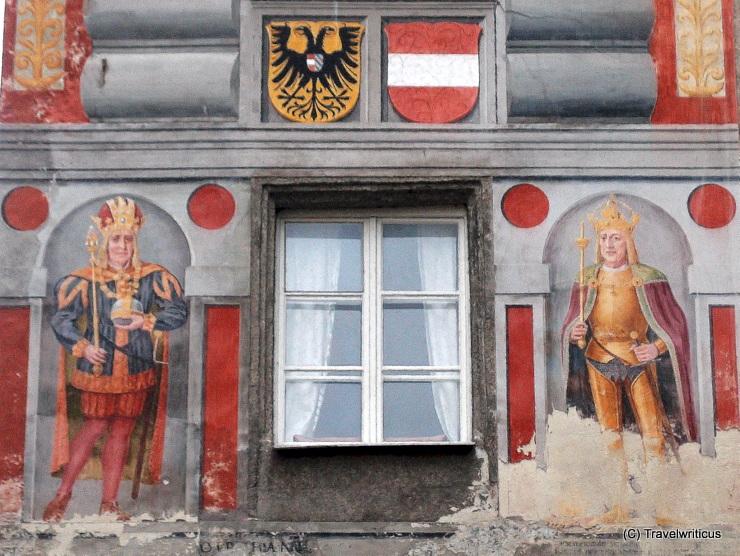 Wall painting at the Blumauerhaus in Steyr, Austria