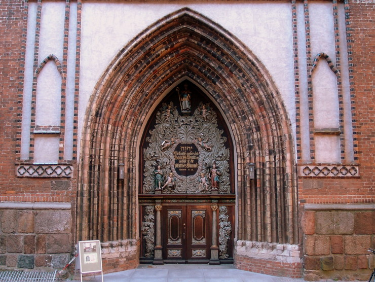 West portal of St. Nicholas' Church in Stralsund, Germany