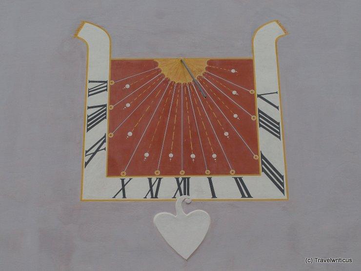 Sundial 1/3 seen at a church in Stubenberg, Austria
