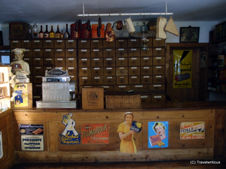 Old grocery at an open air museum in Stübing, Austria