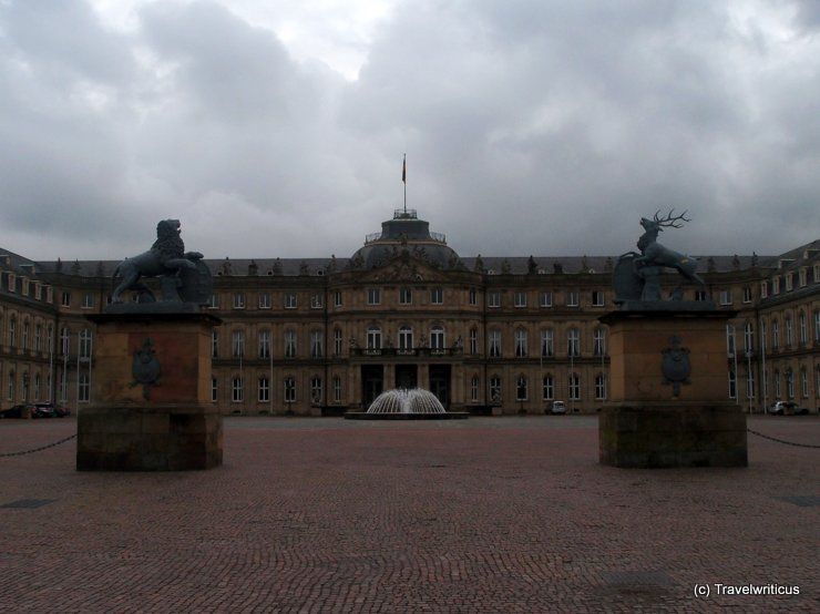 Neues Schloss on a cloudy day