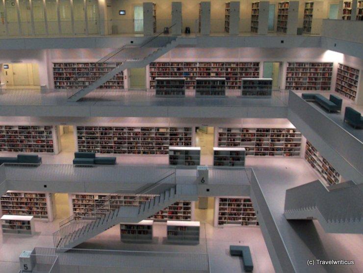 Inside the Stadtbibliothek in Stuttgart, Germany