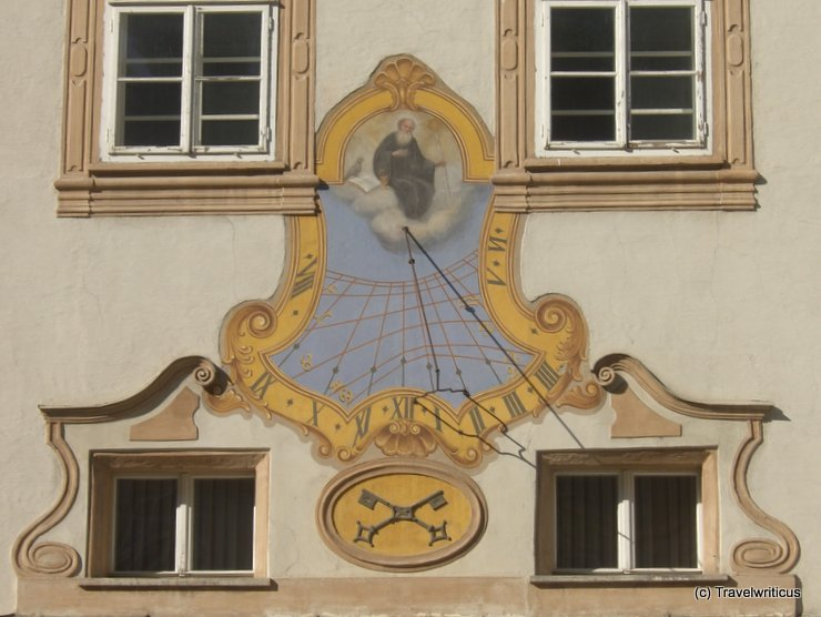 Sundial at St Peter's Archabbey in Salzburg, Austria