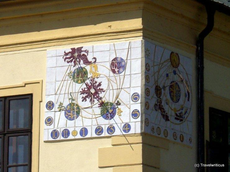 Sundial in Svätý Jur, Slovakia
