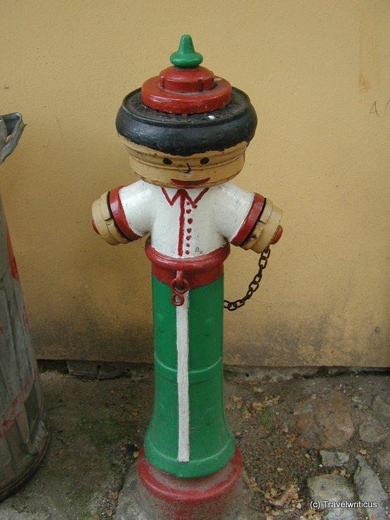 Fun fire hydrant in Tabor, Czech Republic