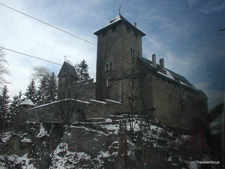 View of Burg Wiesberg taken from train
