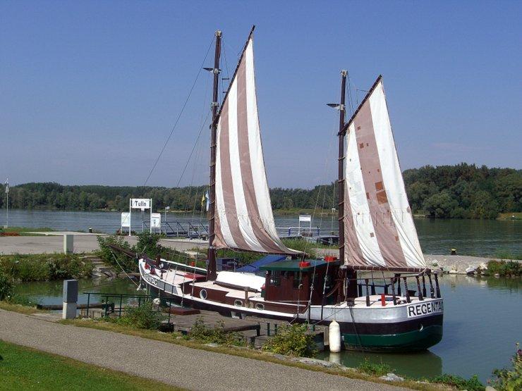 A boat named Regentag in Tulln, Austria