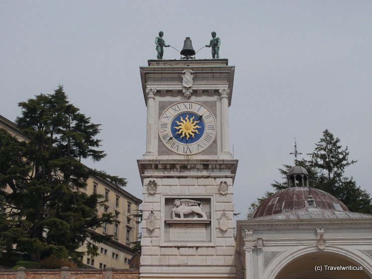 The clock tower of Udine, Italy