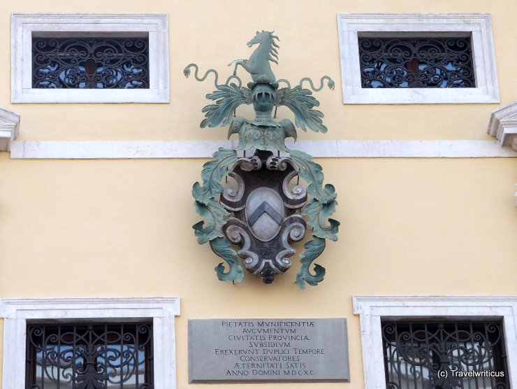 Coat of arms in Udine, Italy
