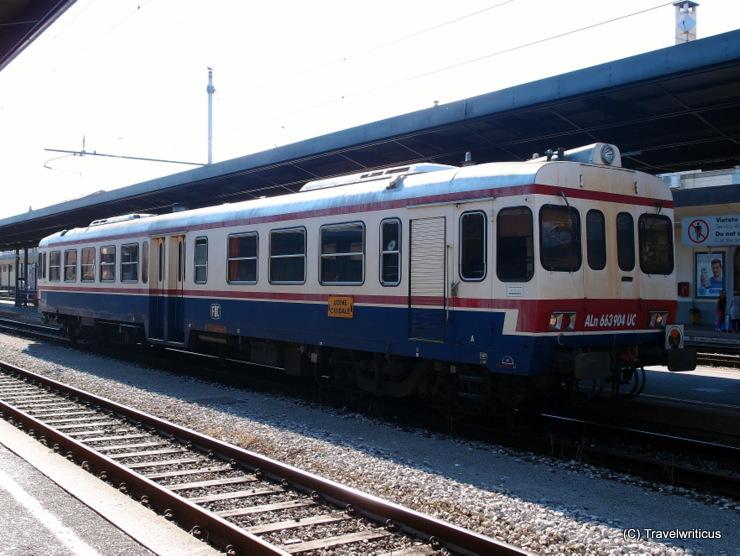 Diesel rail car FS Class ALn 663 in Udine, Italy