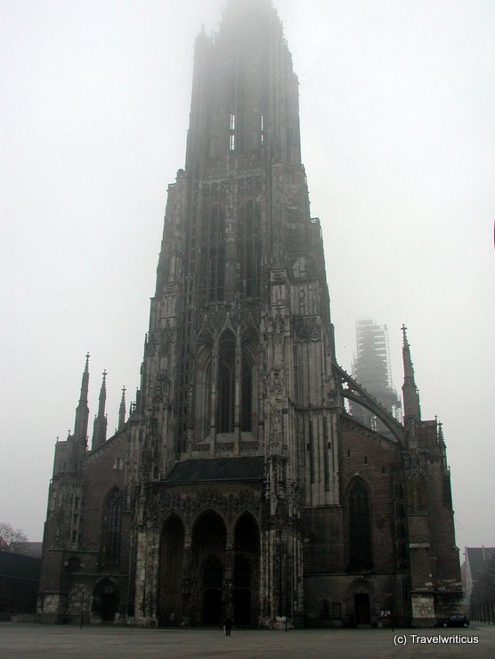 Ulm minster on a foggy day