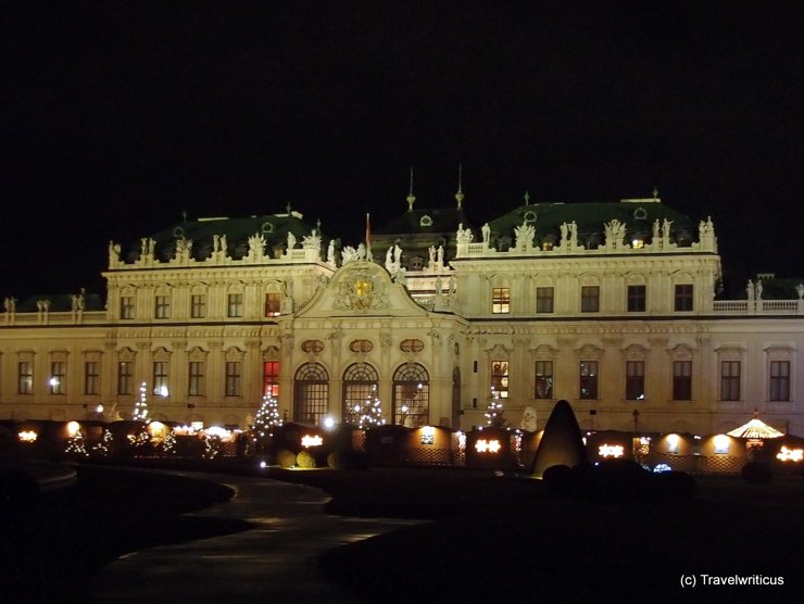 Christmas market at Schloss Belvedere in Vienna, Austria