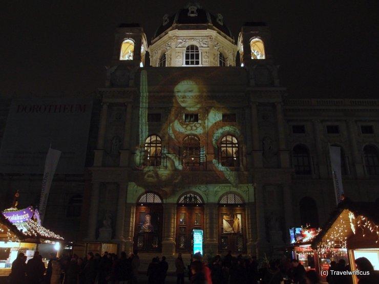 Christmas market at Maria-Theresien-Platz in Vienna, Austria