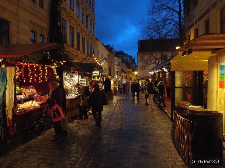 Christmas market at Spittelberg in Vienna, Austria