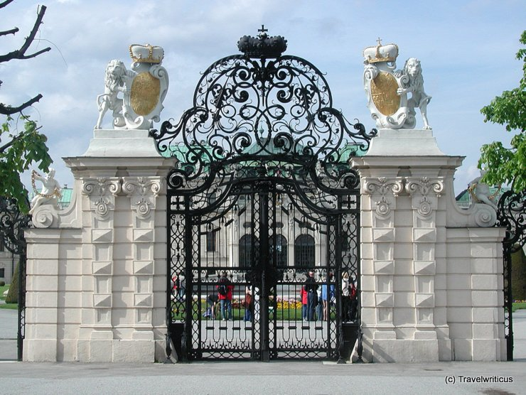 Gate at Upper Belvedere in Vienna, Austria