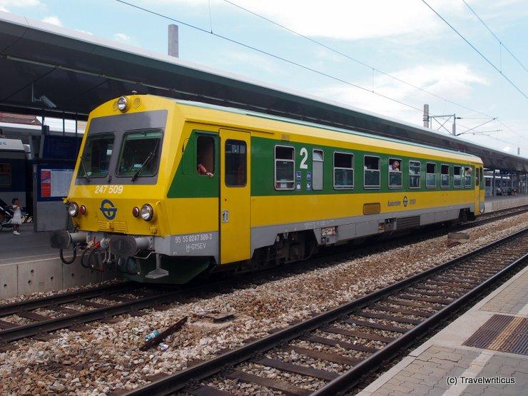 Diesel railcar GySEV 247 509 in Vienna, Austria