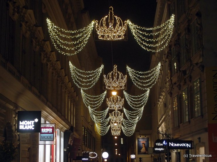 Christmas decoration at Habsburgergasse in Vienna, Austria