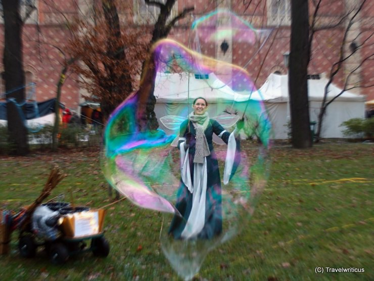 Princess in a soap bubble in front of the HGM in Vienna
