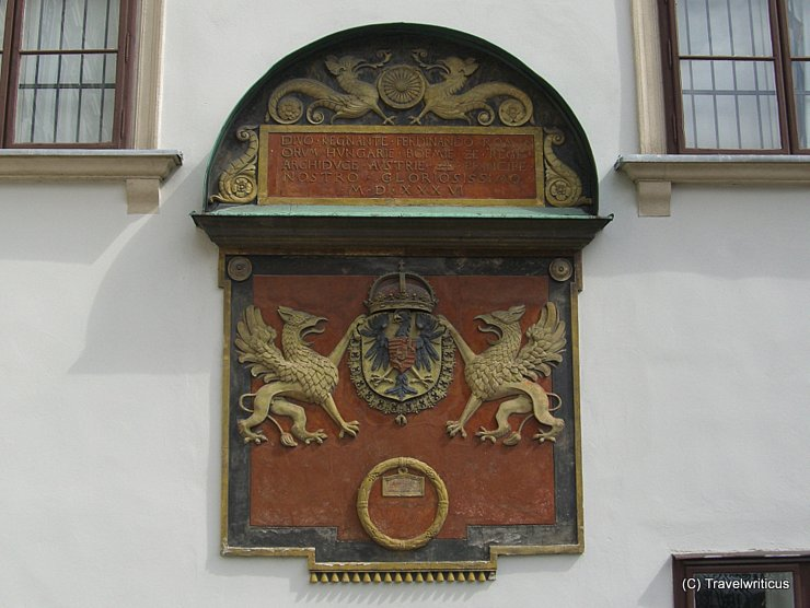 Coat of arms at the Hofburg in Vienna, Austria
