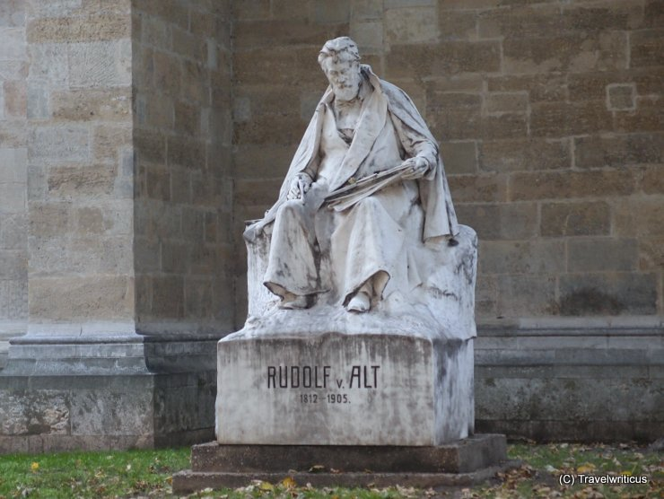Monument to Rudolf Alt near Minoritenkirche in Vienna