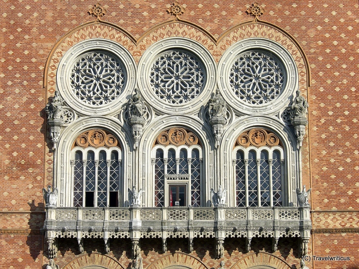 Balcony of the Museum of Military History (HGM) in Vienna, Austria