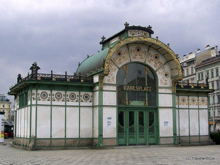 Otto Wagner Pavillon Karlplatz in Vienna, Austria